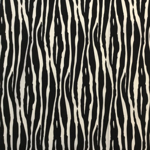 Fabric - Cotton Zebra Black