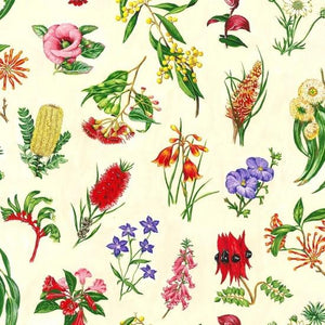 Fabric - Patchwork Wildflowers Yellow