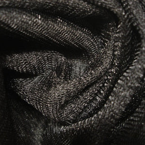 Fabric - Tulle Metallic Net Black