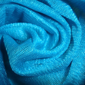 Fabric - Tulle Metallic Net Aqua Blue