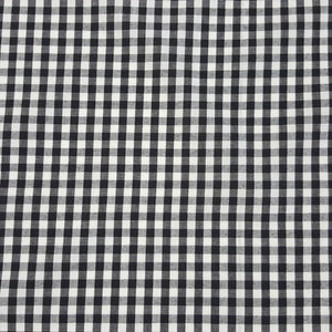 Fabric - Basics Gingham Polycotton Black Small 6mm Black