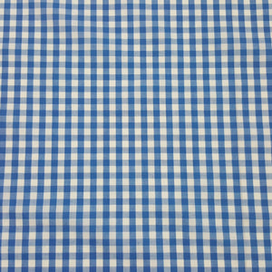 Fabric - Basics Gingham Polycotton Blue Small 6mm Blue