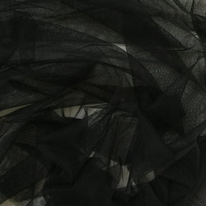 Fabric - Tulle Poly Tulle Black