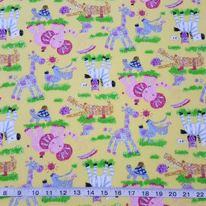 Fabric - Kids Prints Playtime Yellow