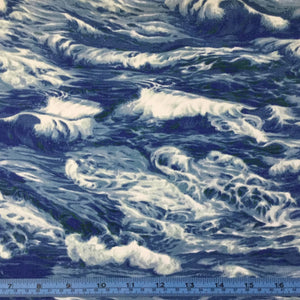 Fabric - Patchwork Sea Waves Blue