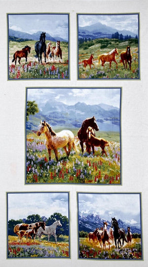 Fabric - Panels Wildflower Trails Panel Multi