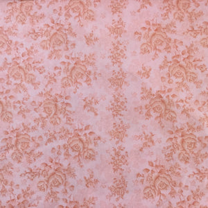 Fabric - Quilt Backing Homestead Climbing Rose Pink Pink