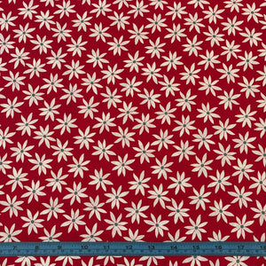Fabric - Patchwork Cherry Twist Daisy Red Red