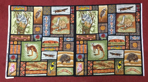 Fabric - Panels Awesome Australia Panel Multi