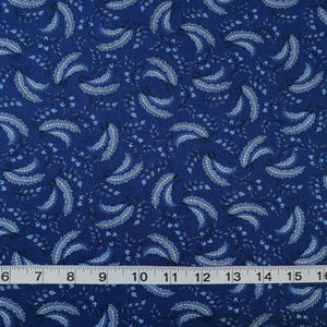 Fabric - Patchwork Regency Ballycastle Feathers Navy Navy