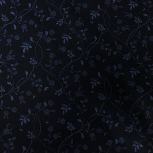 Fabric - Patchwork English Countryside Navy Tonal Vine Multi