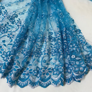 Fabric - Lace Princess Turquoise Blue