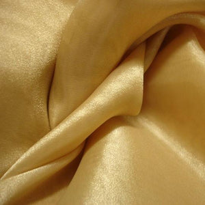 Fabric - Sheer Crystal Organza Gold Gold