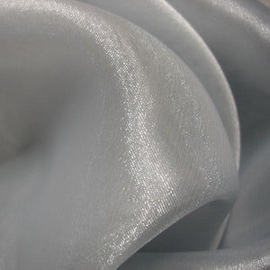 Fabric - Sheer Crystal Organza Silver Silver