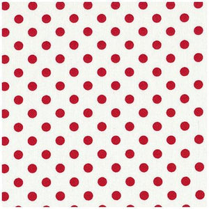 Fabric - Cotton Spotmania Mid Spot Red White