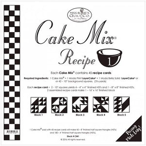Patterns Cake Mix Recipe Set 1