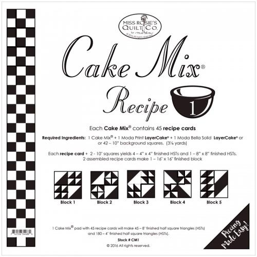 Cake Mix Recipe Set 1