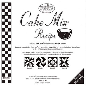 Patterns Cake Mix Recipe Set 4