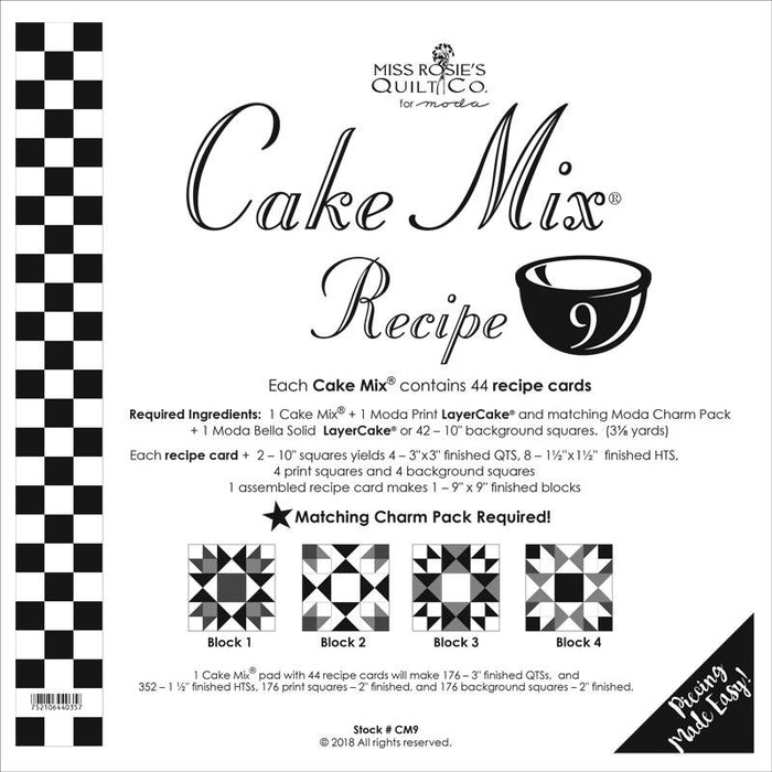 Cake Mix Recipe Set 9