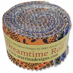 Fabric - Pre cuts Dreamtime Roll Multi 40 Pcs Multi