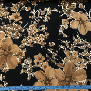 Fabric - Polyester Sepia Brown
