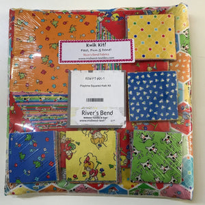 Patchwork Kits Playtime Squared Kwik Kit Quilt Kit Multi