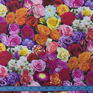 Fabric - Patchwork Roses Multi