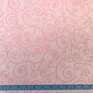 Fabric - Quilt Backing Willow Pink Pink