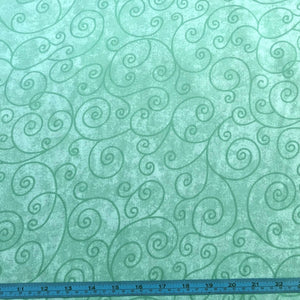Fabric - Quilt Backing Willow Mint Green