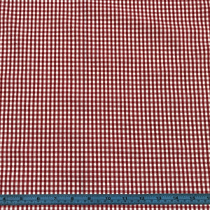 Fabric - Basics Gingham Polycotton Red Small 3mm Red