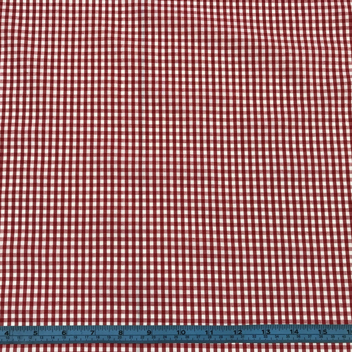 Gingham Polycotton Red Small 3mm