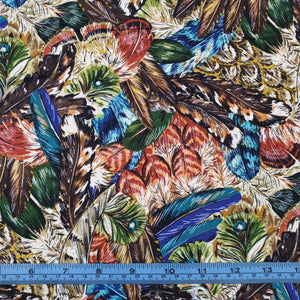 Fabric - Patchwork Feathers Multi Multi