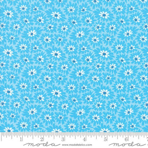 Fabric - Patchwork Fiddle Dee Dee Blue Blue