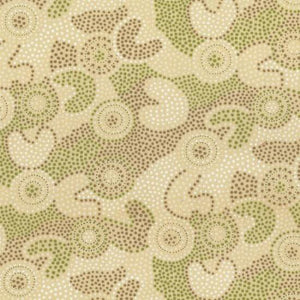 Fabric - Patchwork Spot Gooloo Cream Brown