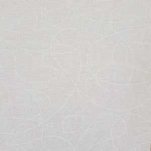 Fabric - Quilt Backing Squiggle White White