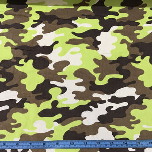 Fabric - Other Corduroy Camo Print Green