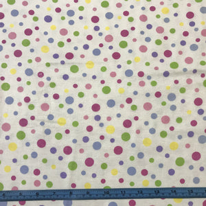 Fabric - Flannelette Alpine Flannel Multi Dots Cream