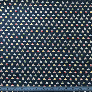 Fabric - Cotton Hope Chest 2 Hearts Petrol Navy
