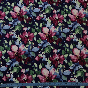 Fabric - Cotton Greta Navy