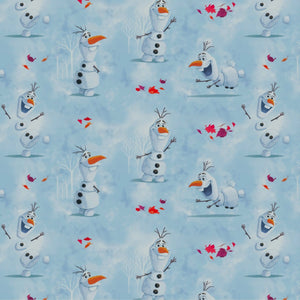 Fabric - Patchwork Disney Olaf Watercolour Light Blue