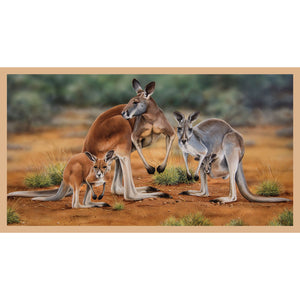 Fabric - Panels Wildlife Art V3 A Panel Brown