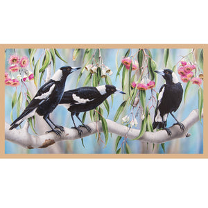 Fabric - Panels Wildlife Art V3 B Panel Blue
