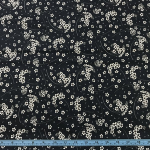 Fabric - Patchwork Devonstone Lawn Small Floral Navy