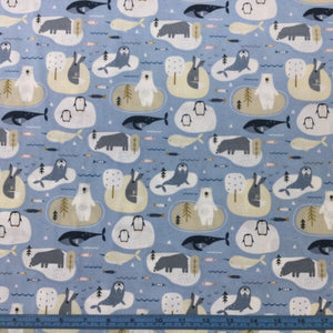 Fabric - Patchwork Habitat Arctic Blue