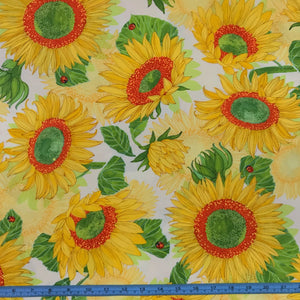 Fabric - Patchwork Solana Sunflower Cream