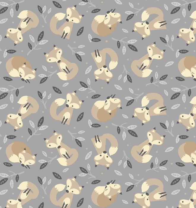 Little Critters Foxes On Grey