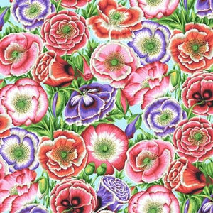 Fabric - Patchwork Spring 2018 Poppy Garden Blue