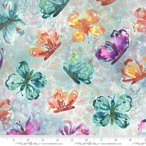 Fabric - Patchwork Sunshine Soul Cool Breeze Aqua
