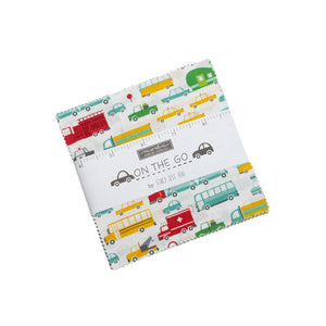 Fabric - Pre cuts On The Go Charm Pack White