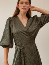 Load image into Gallery viewer, Leo Holiday Dress Hedge Green